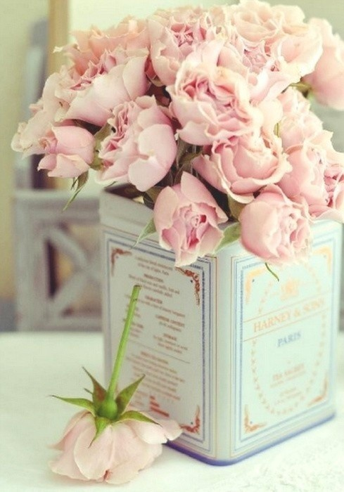 I have a crush with pink roses/peonies